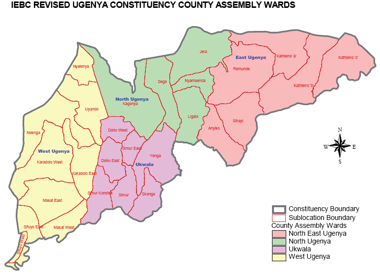 Ugenya Constituency Map