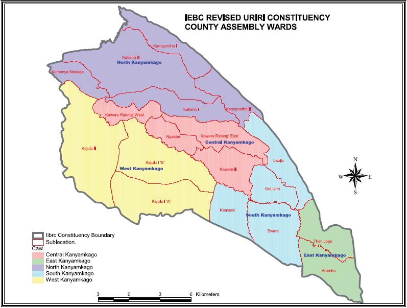 Uriri Constituency Map