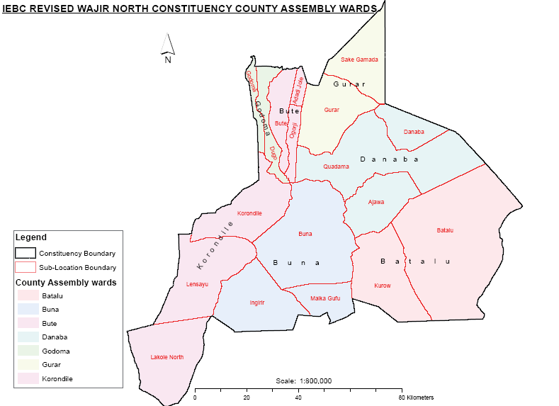 Wajir North Constituency Map