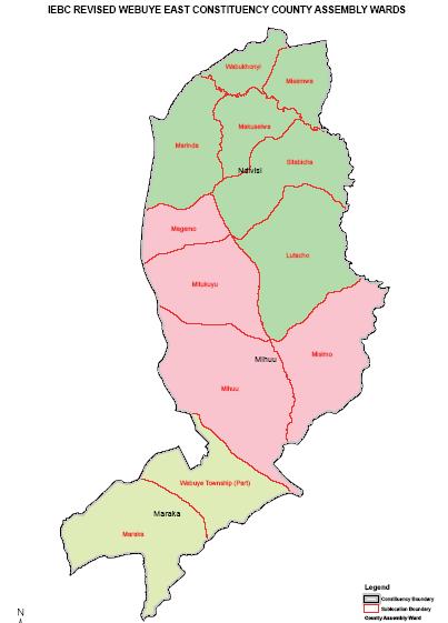 Webuye East Constituency Map