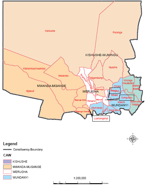 Wundanyi Constituency Map