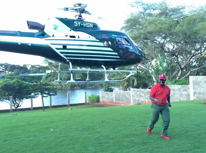 William Kabogo Helicopter - Kabogo Jumps Off A Moving Helicopter