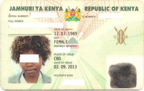 Kenya id card kenya national identity card check id status kenya kenyan id sample altavistaventures Choice Image