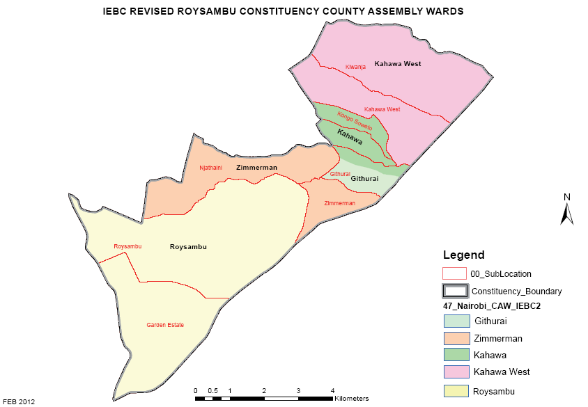 Roysambu Constituency Map
