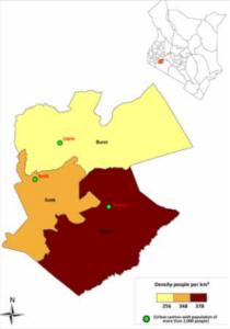 Bomet County Map