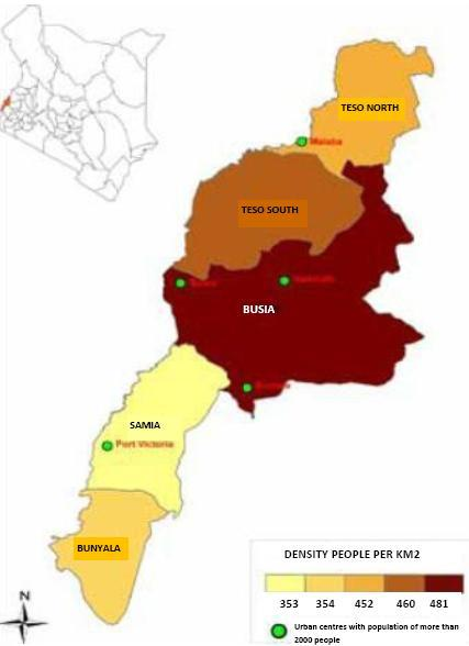 Busia County Map
