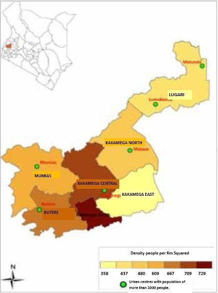 Kakamega County Map