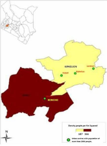 Kericho County Map