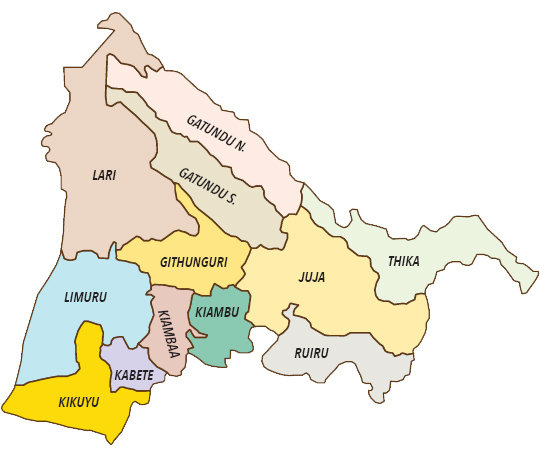 Kiambu County Map