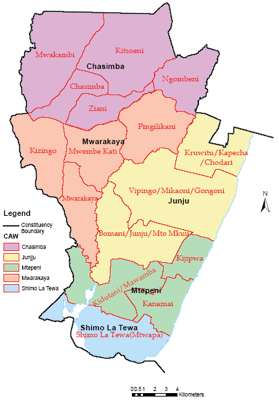 Kilifi County Map