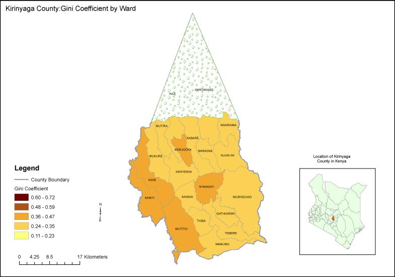 Kirinyaga County Map