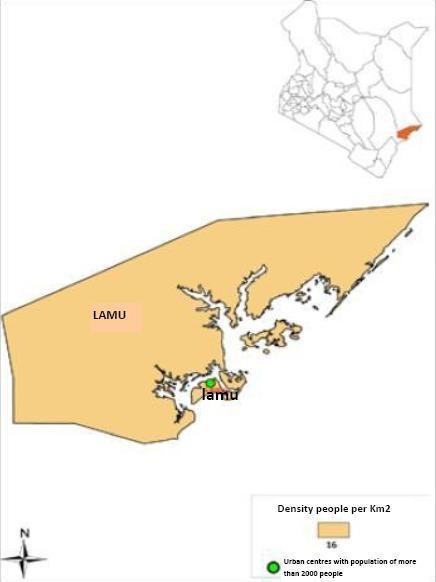 Lamu County Map