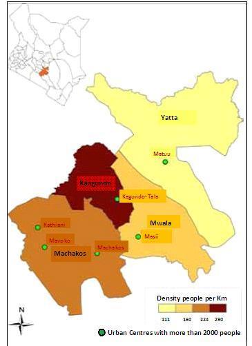 Machakos County Map