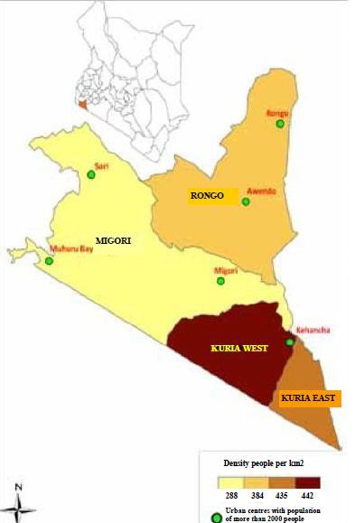 Migori County Map