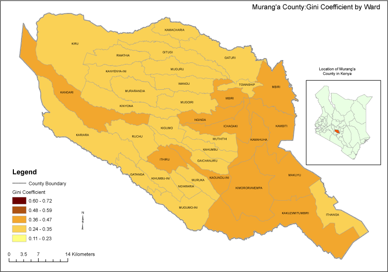 Muranga County Map