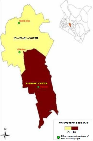 Nyandarua County Map