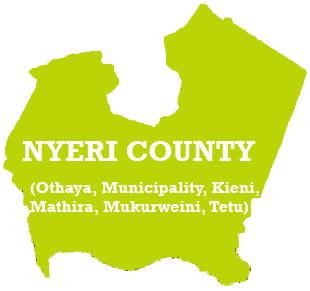 Nyeri County Map
