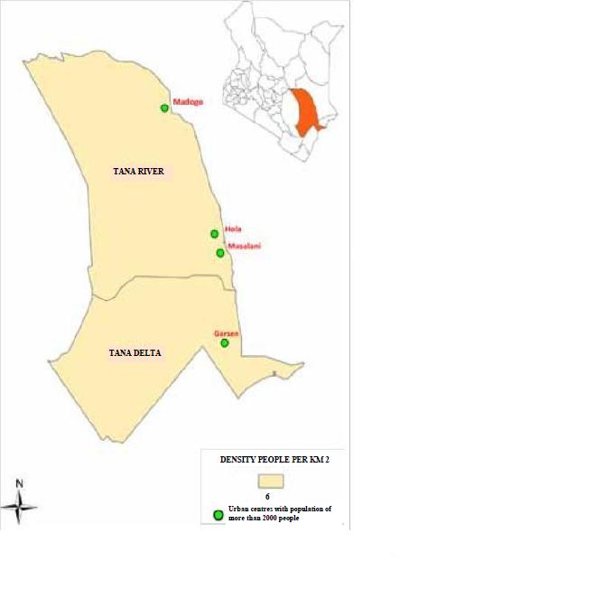 Tana River County Map
