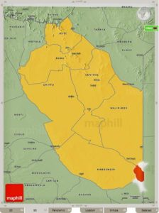 Wajir County Map