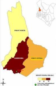 West Pokot County Map