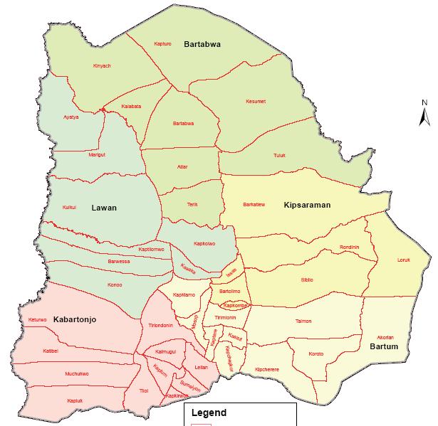 Baringo North Constituency Map