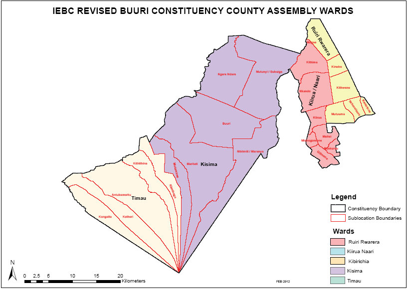 Buuri Constituency Map