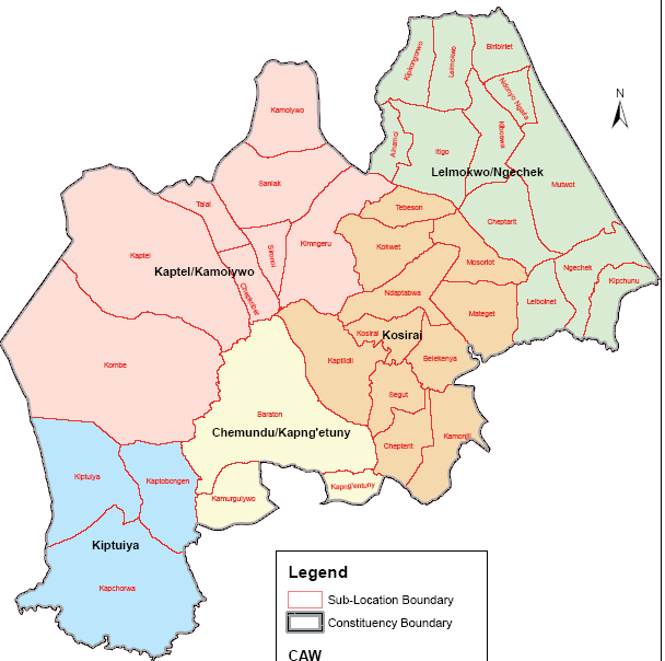Chesumei Constituency Map
