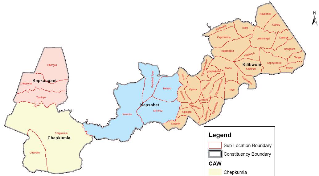 Emgwen Constituency Map