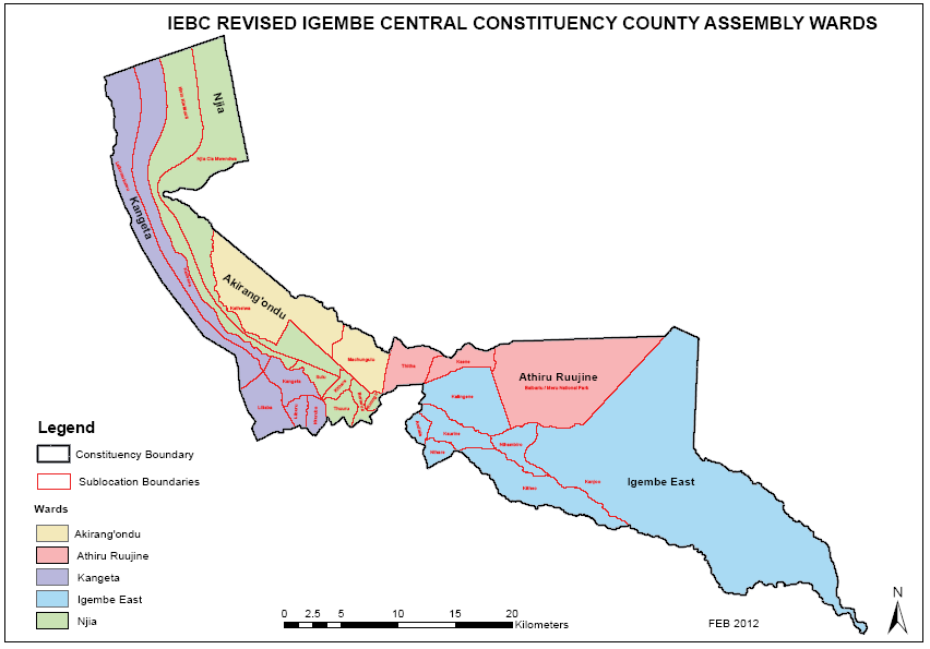 Igembe Central Constituency Map