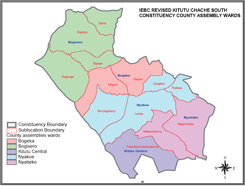 Kitutu Chache South Contituency Map