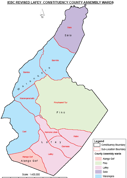 Lafey Constituency Map