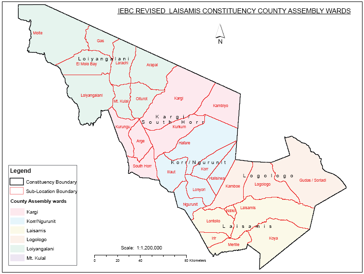 Laisamis Constituency Map