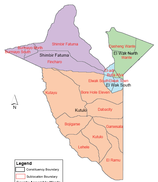 Mandera South Constituency Map