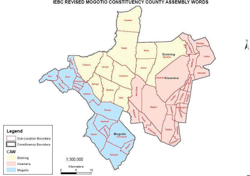 Mogotio Constituency Map