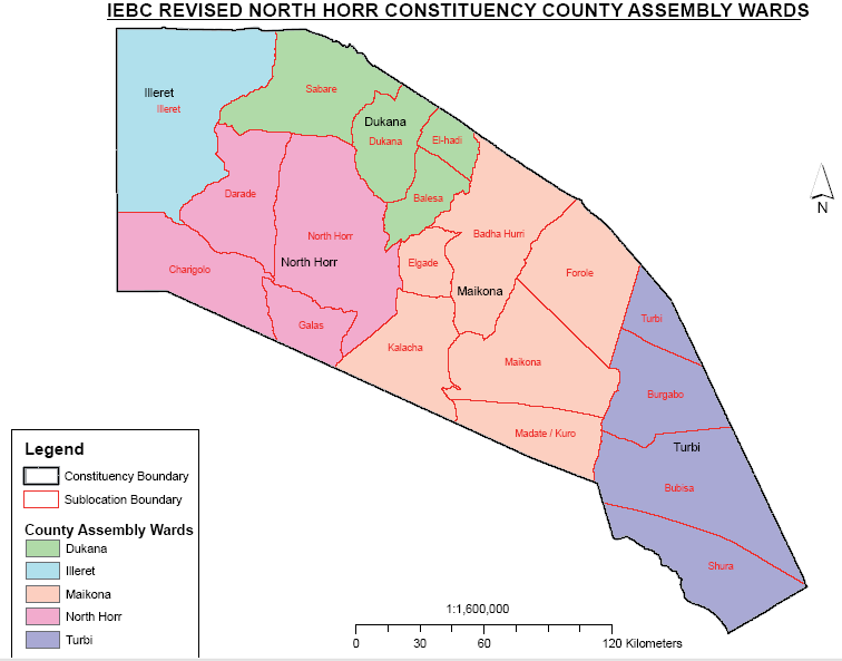 North Horr Constituency Map