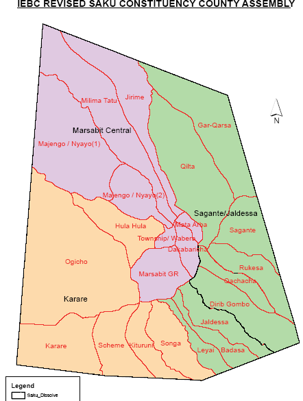 Saku Constituency Map
