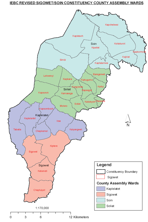Sigowet - Soin Constituency Map