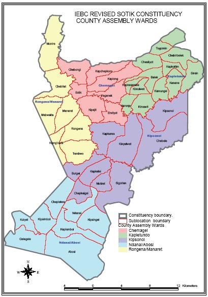 Sotik Constituency Map