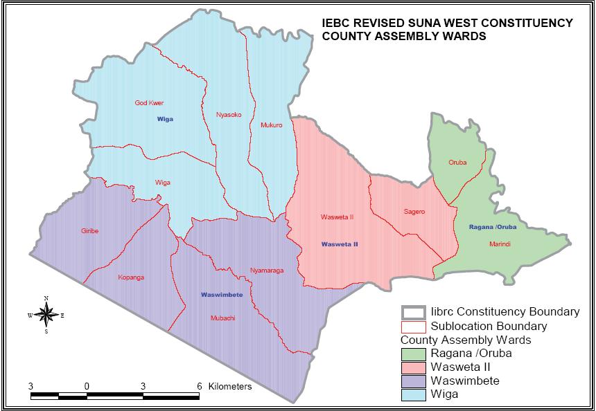 Suna West Constituency Map