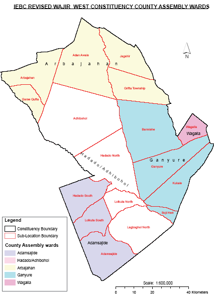 Wajir West Constituency Map