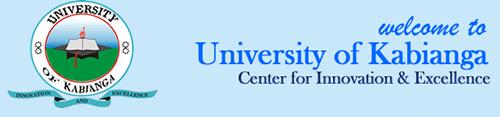 Kabianga University Courses