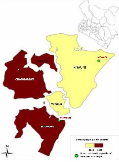 Mombasa County Map