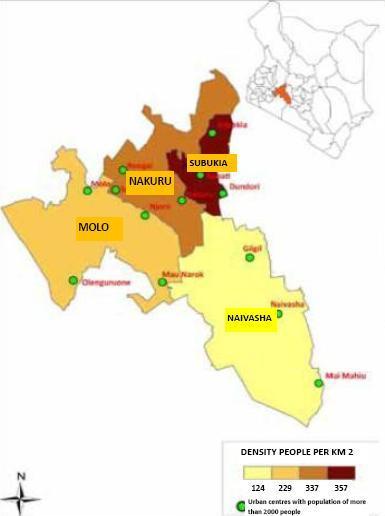 Nakuru County Map