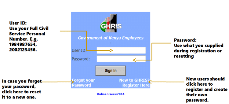 Ghris Payslip Online Portal Login and Download, 2018 P9 Form