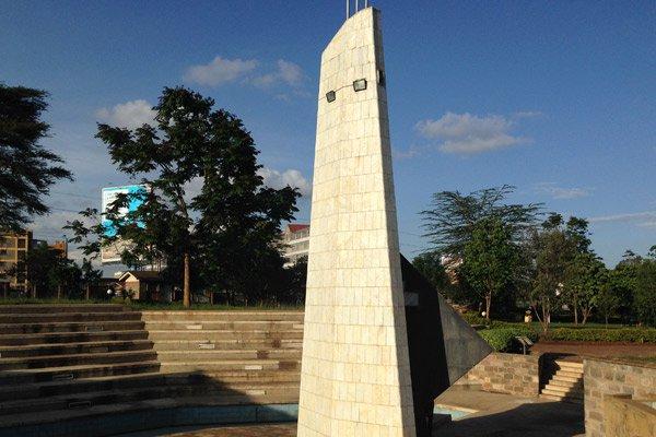 A monument at Uhuru Gardens