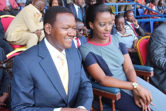 Alfred Mutua and Wife Photo