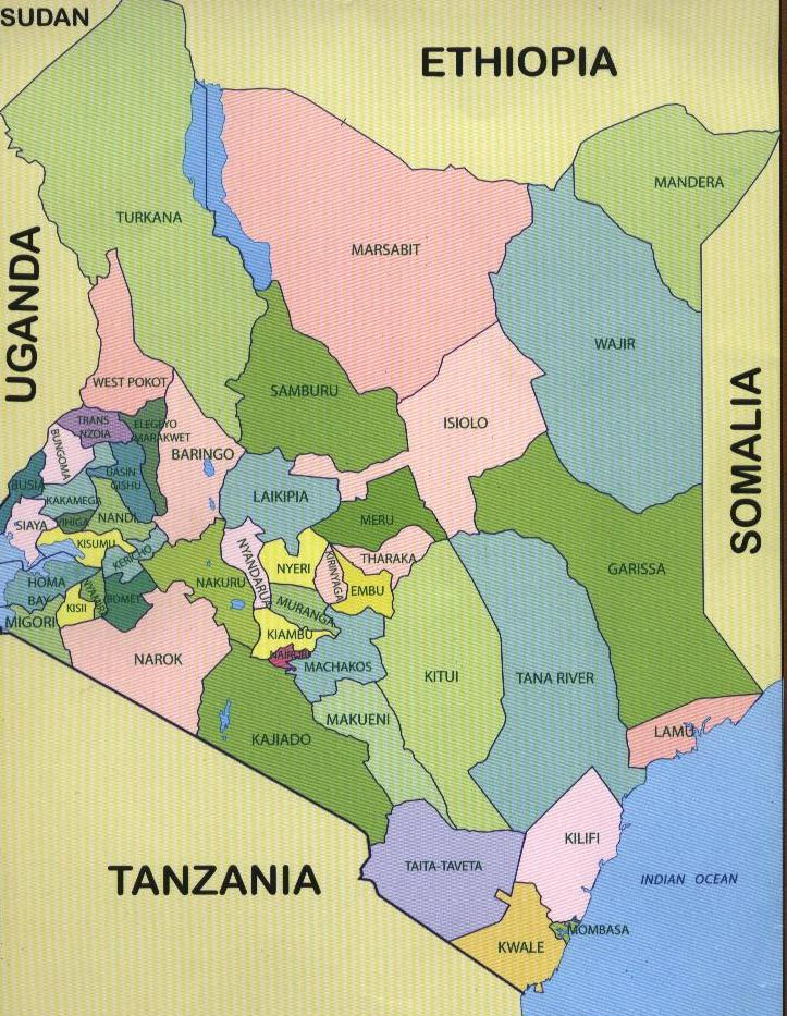 Kenya counties map