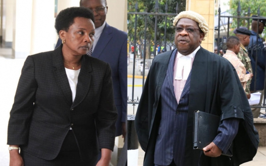 Amos wako and Justice Philomena Mwilu