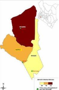 Nyamira County Map