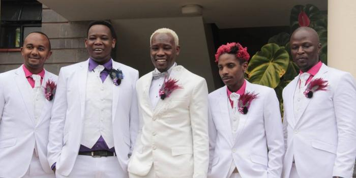 Daddy Owen and his groomsmen